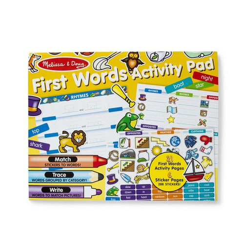 M&d - first words activity pad