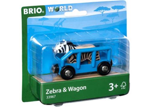 Brio Vehicle - Safari Zebra And Wagon