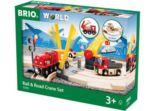 Brio - Rail And Road Crane Set 26 Pieces