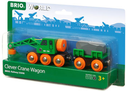 Brio - Clever Crane Wagon 4 Pieces