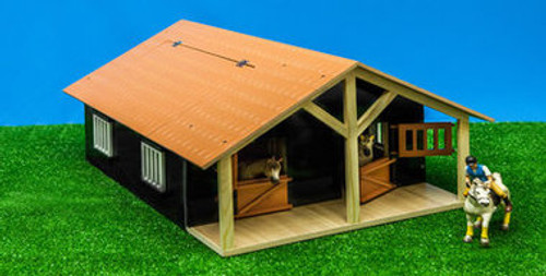 WOODEN HORSE STABLE WITH WORKSHOP