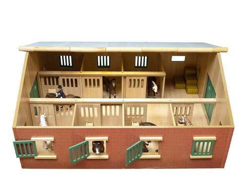WOODEN HORSE STABLE 1:24 SCALE