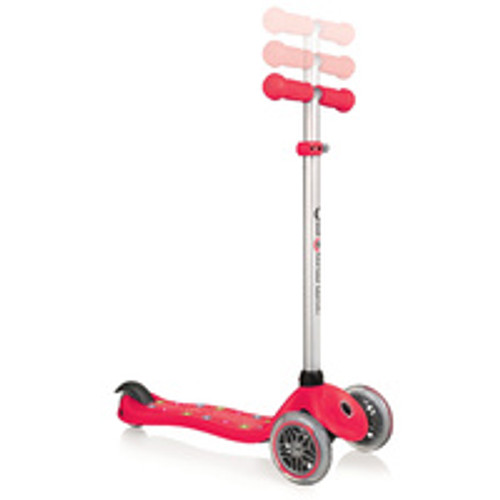 GLOBBER PRIMO STARLIGHT SCOOTER WITH LIGHT UP DECK - RED