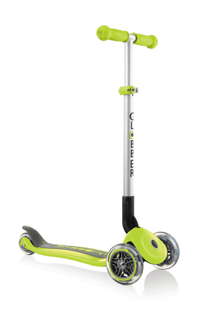 GLOBBER PRIMO FOLDABLE SCOOTER - LIME GREEN