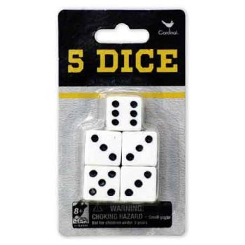 Classic Games Pack Of 5 Dice
