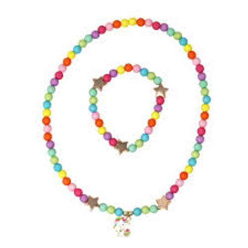 Little unicorn necklace & bracelet set
