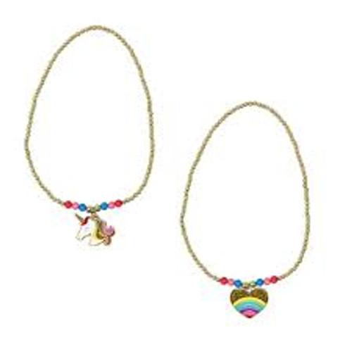 Rainbows & unicorns beaded necklace