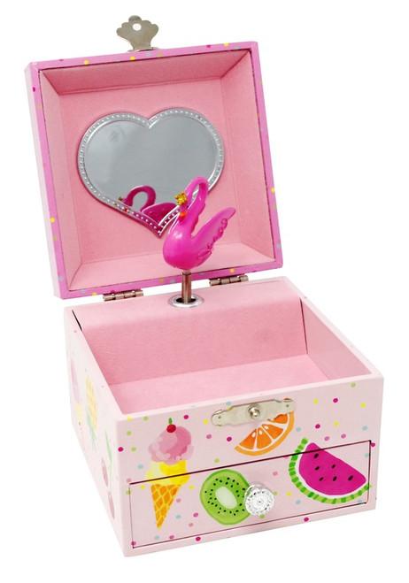 Fabulous flamingo small music box - pink