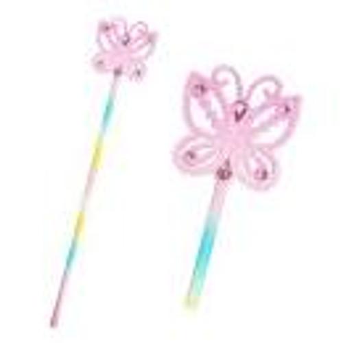 Pastel butterfly glitter wand