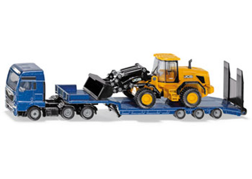 Siku - man tgx xxl truck with low loader& jcb wheel loader