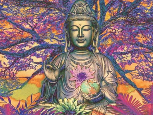 Diamond art - buddha tree 30cm x 30cm