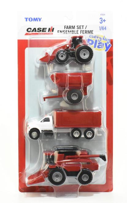 Case Ih 4 Piece Farm Set 1:64 Scale