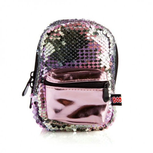 Backpack minis - sequin pink