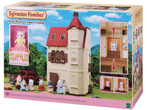 Sylvanian families - red roof tower home