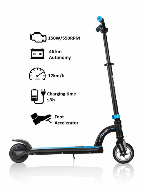 Globber one k e-motion 10 electric scooter (blue)