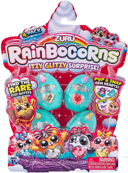 Rainbocorns Itzy Glitzy Surprise 4 Pack