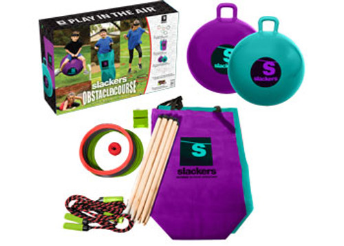 Slackers - ninja obstacle course with bounce balls
