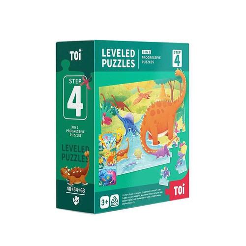 Leveled Puzzle 3 In1 - Step 4 - Dinosaur