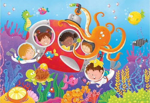 Ravensburger - deep diving friends friends supersize puzzle
