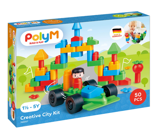 Poly m - creative city set 50 pieces