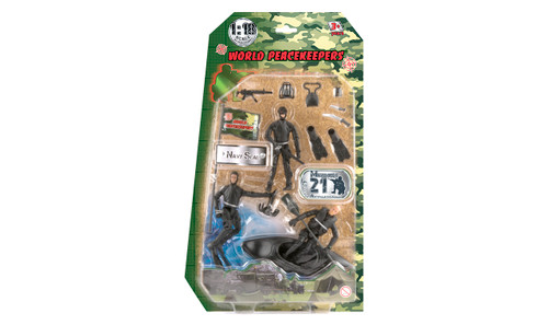 Military Playset with 3 Figures and Accessories - Marine