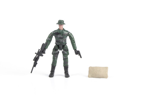 1:18 Scale Single Military Figure With Accessories - 17