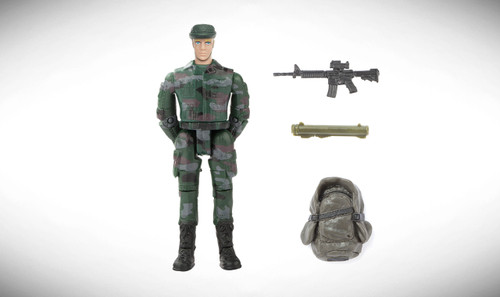 1:18 Scale Single Military Figure With Accessories - 18