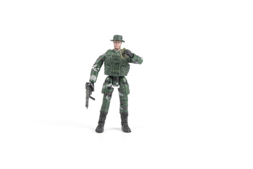 1:18 Scale Single Military Figure With Accessories - 08