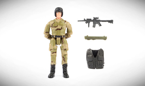 1:18 Scale Single Military Figure With Accessories - 01