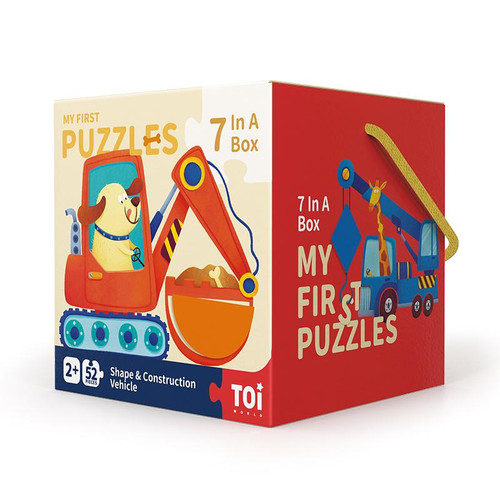 TOI My First Puzzles - Shape and Construction Vehicle