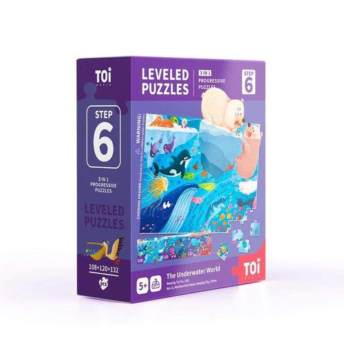 Leveled Puzzles 3 in 1 - Step 6 - The Underwater World