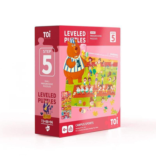 Leveled Puzzles 3 in 1 - Step 5 - Campus Sports