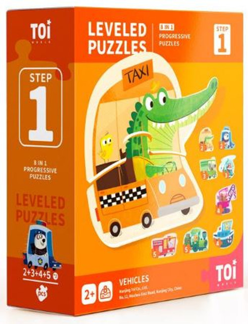 Leveled Puzzles 8 in 1 - Step 1 - Vehicles
