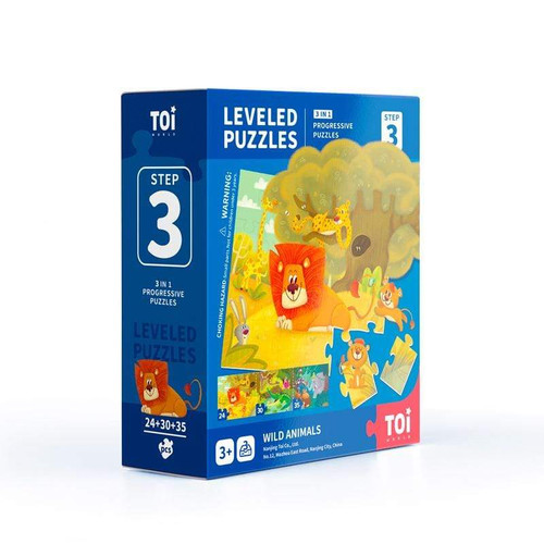 Leveled puzzle 3 In 1 - Step 3 - Wild Animals