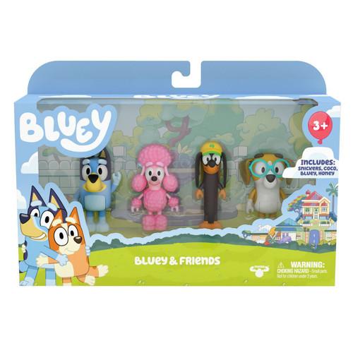 Bluey S3 Figure 4 Pack - Bluey & Friends