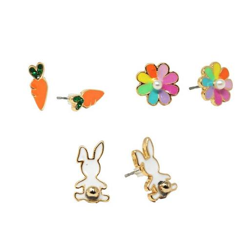 Bunny Garden Earring Set of 3