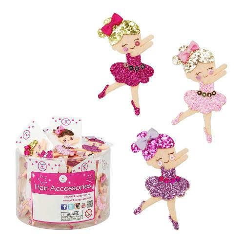 Glitter Ballerina Hairclips