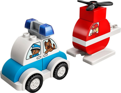 Lego Duplo - Fire Helicopter and Police Car