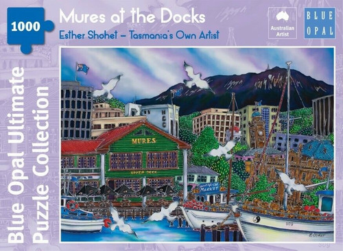 Blue Opal - Esther Shohet Mures at the Docks Puzzle 1000 pce