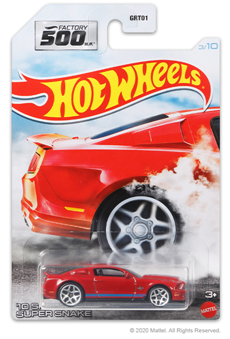 Hot Wheels Factory 500 - 10 Shelby GT500 Super Snake