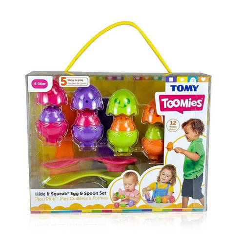 Tomy Hide and Squeak Egg and Spoon Set