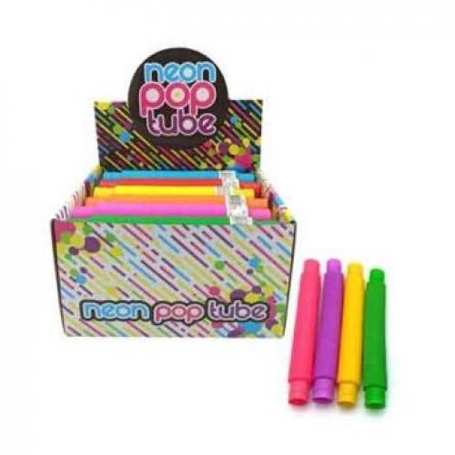 Pop Tubes Neon Assorted Colours