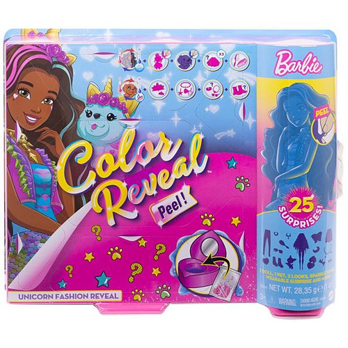 Barbie Colour Reveal Doll - Unicorn Fashion Reveal