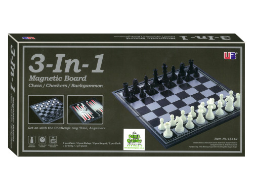 Chess/Checkers/Backgammon 3 in 1 Magnetic Set