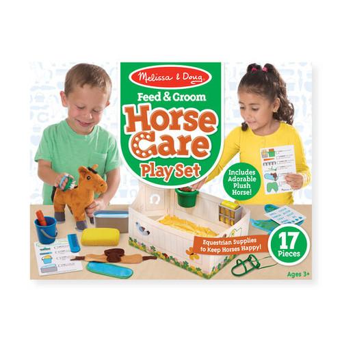 Melissa & Doug - Feed & Groom Horse Care Play Set