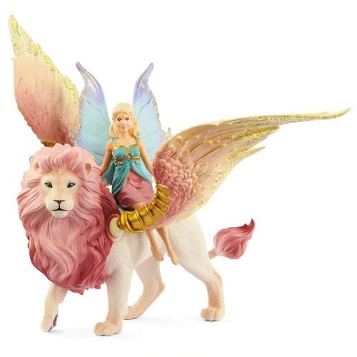 Schleich - Fairy In Flight on Winged Lion