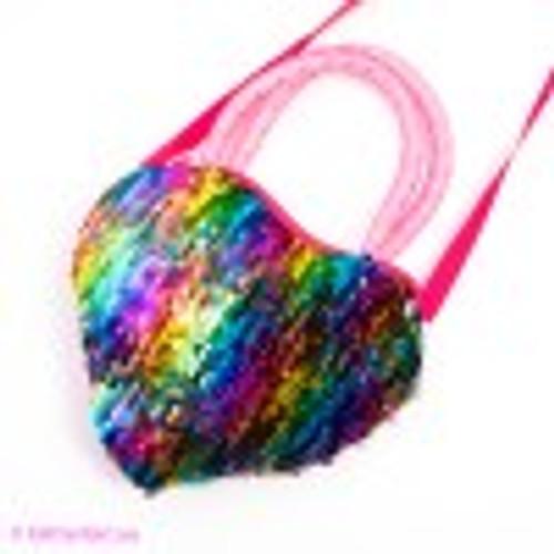Glitter Girl - Rainbow Sequin Bag