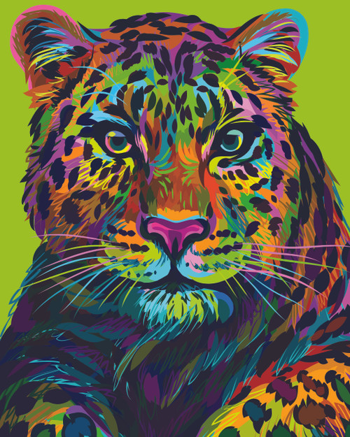 Diamond art - Colour Leopard 40x50