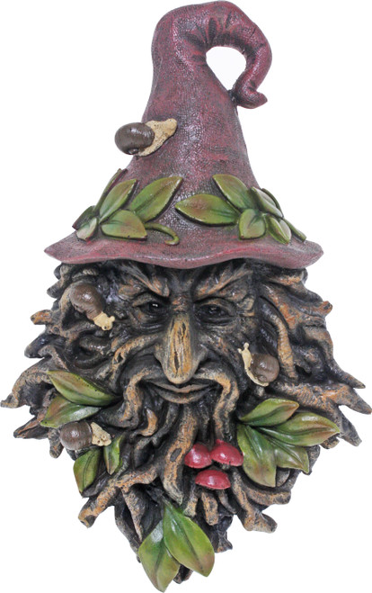 Treant Wall Plaque 26cm Wizard Red Hat