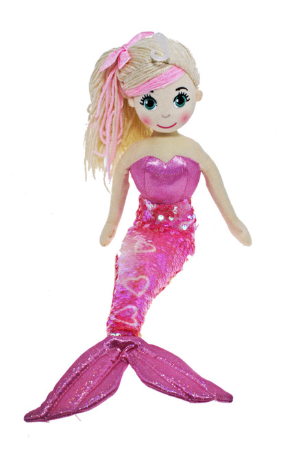 45cm Maraja Shiny Pink Mermaid Flip Sequined Tail